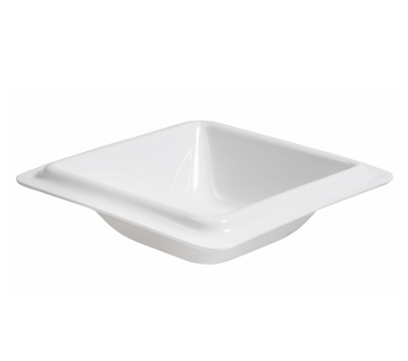 BSW0010.S Square Bowl small edge White 215x215mm