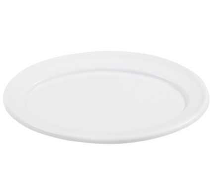 BSW0023 - Oval Tray White Medium (470x330x15mm)