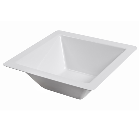 BSW0031 - Square Salad Bowl Large White (370x370x120mm)
