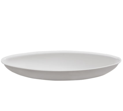 BSW0032 - Oval Bowl White (420x130mm)