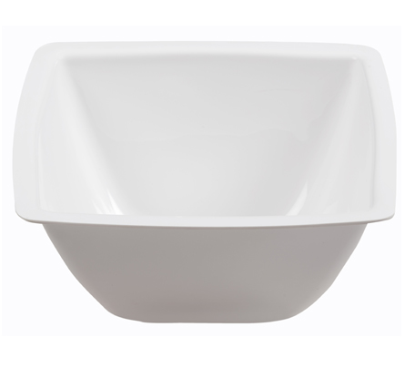 BSW0082 - Salad Bowl White Semi-square (285x285x100)