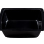 BSW0082.S.BCK - Salad Bowl Black Semi-Square Shallow (285x285x60mm)