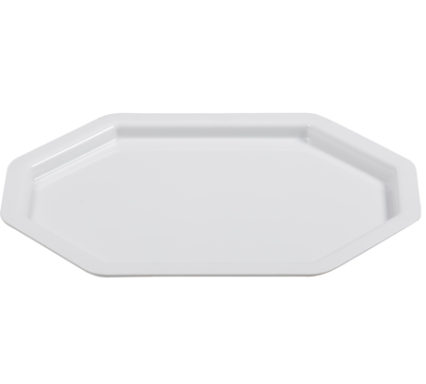 BSW0150 - Octagonal rectangular Tray ;Platter White (425x310x20mm)