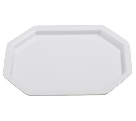 BSW0151 - Octagonal rectangular Tray Platter White (440x335x20mm)