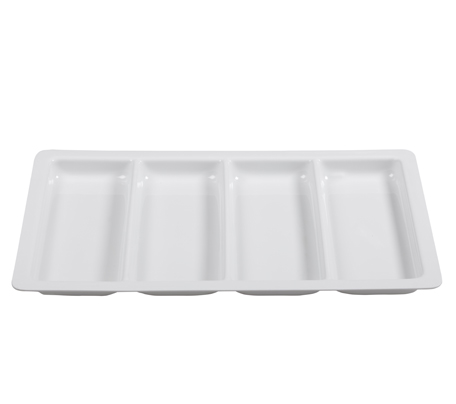 BSW0016.4DIV - Display Tray 4 Division White 560x355x20mm