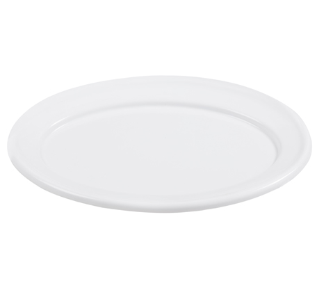 BSW0023 - Oval Tray White Medium (470x330x15mm)