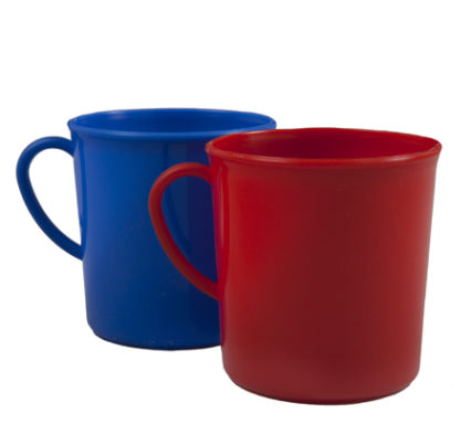BSW0061- Mug Plastic (Red Blue Green 300ml)