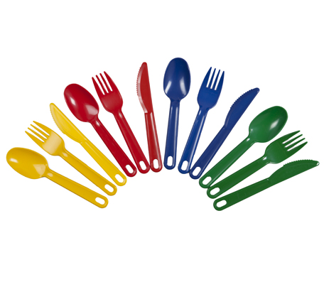 BSW0062 - Cutlery Set Plastic (Knife;Fork;Spoon in Yellow, Red Blue or Green)