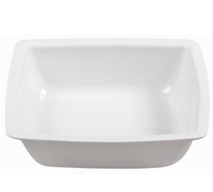 BSW0082.S - Salad Bowl White Semi-square Shallow (285x285x60mm)