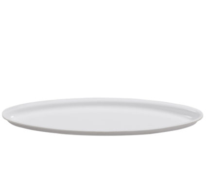 BSW0117 - Oval Tray Small White (420x130x20mm)