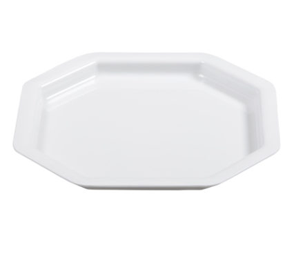 BSW0152 - Octagonal square Tray Platter White (340x340x20mm)
