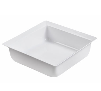 BSW0173 - Square Bowl White ;  (255x255mm) -2mm thick material