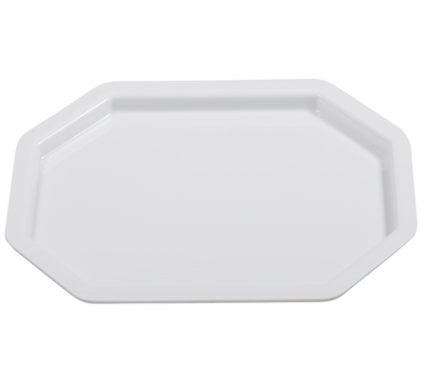 BSW0151 - Octagonal rectangular Tray Platter White (440x335x20mm)
